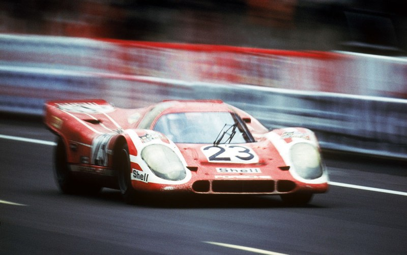 The first victory at LeMans: The Porsche 917 KH in 1970. The original car will be part of the special exhibition.