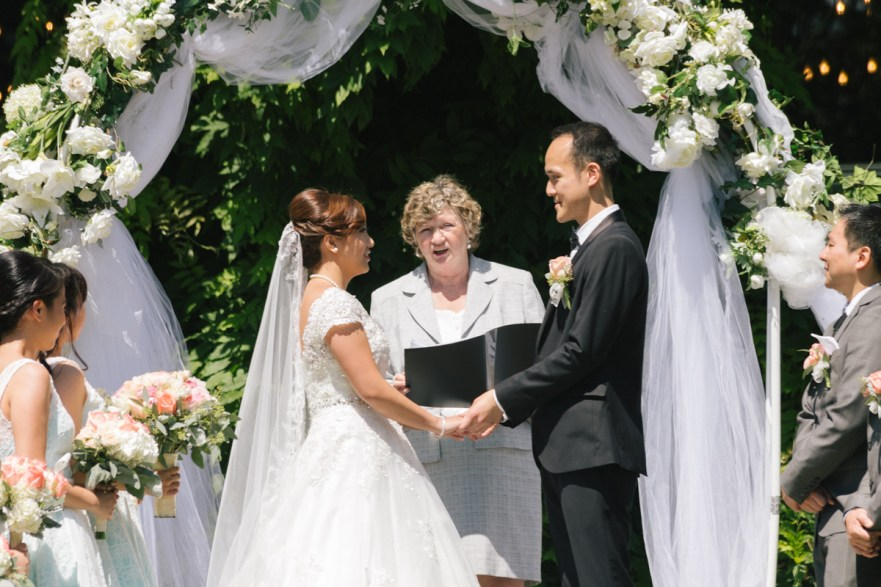 Wedding ceremony in Stanley Park Pavilion