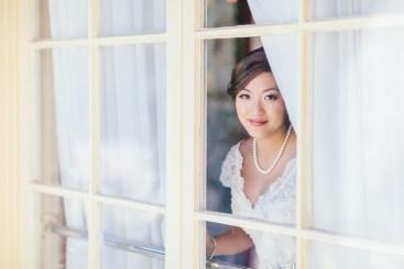 portrait shot of the beautiful bride