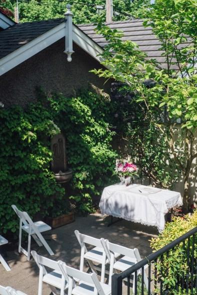 simple backyard casual wedding venue
