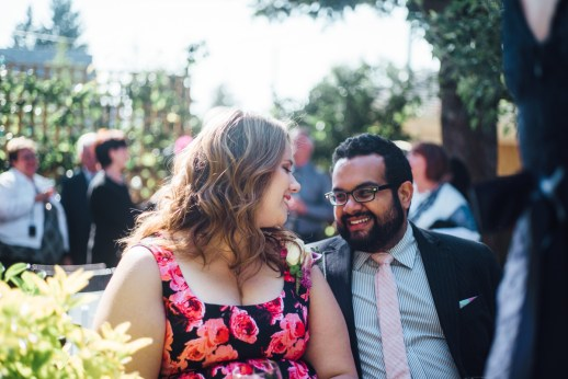 simple backyard wedding vancouver stare beautiful