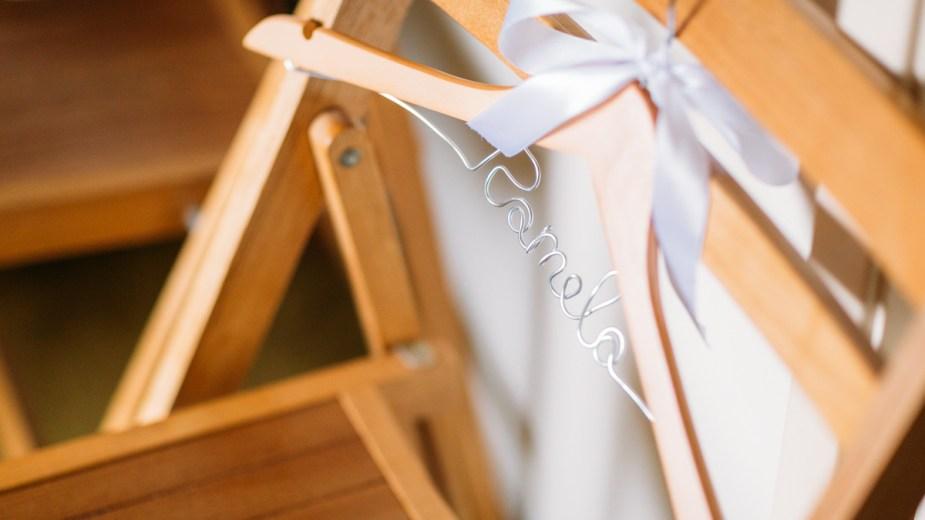 Pamela custom name coat hanger