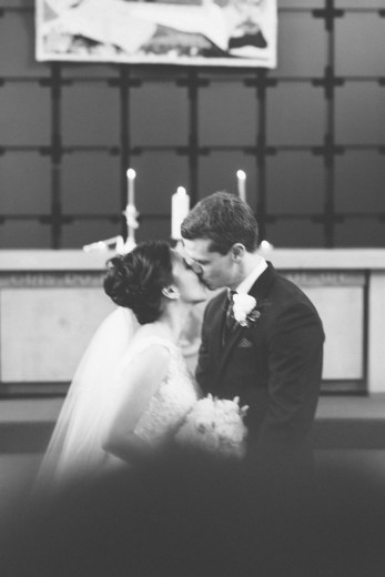 First kiss. (Shaughnessy United Church)