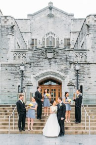 Wedding party shoot in UBC library, Vancouver, BC, Canada (Irving K Barber Learning Center)