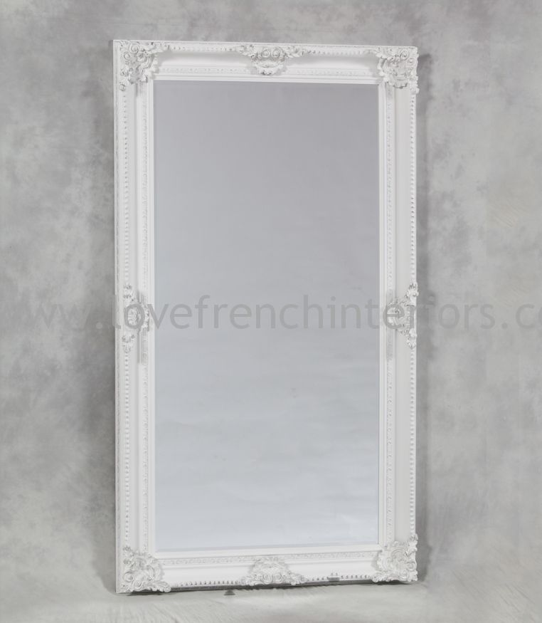 Antique White Classic Framed Extra Large Mirror