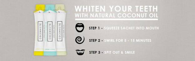 Coco White Teeth Whitening with Coconut OIl