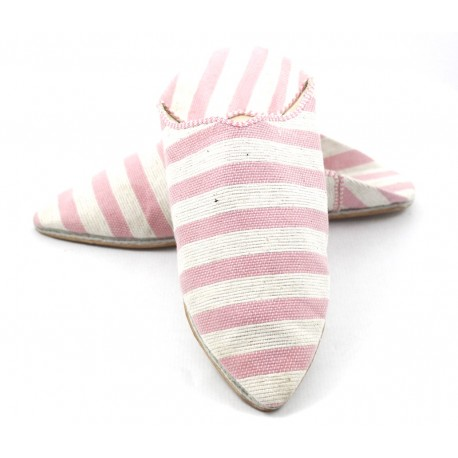 Moroccan striped slippers