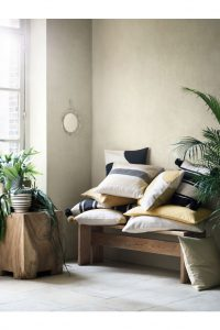 black and white cushion H and M