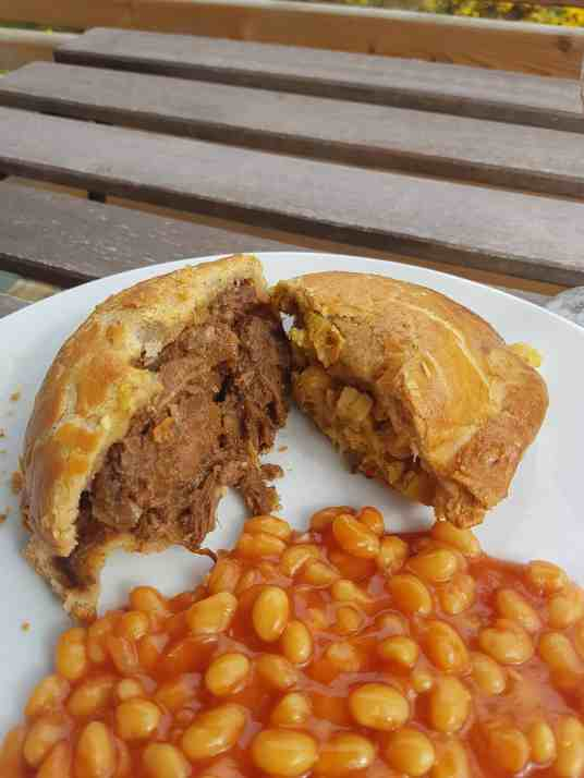 Lochinver pies - beans optional!