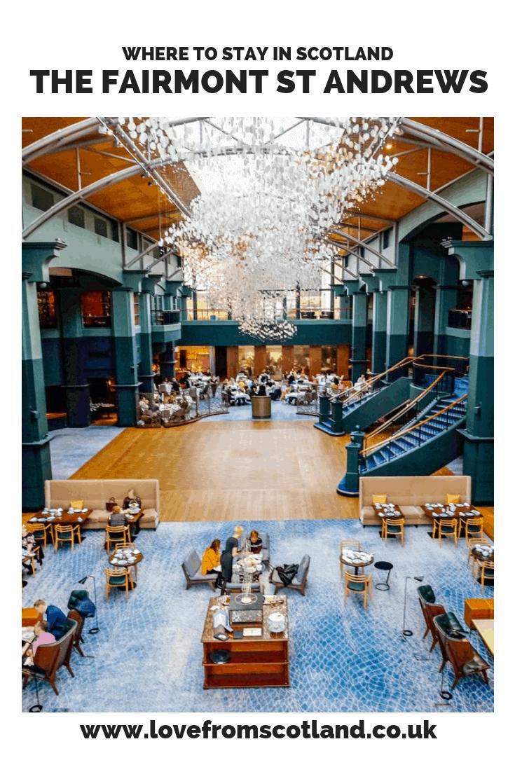 The Fairmont St Andrews Scotland - a luxury hotel with Scotland's best brunch