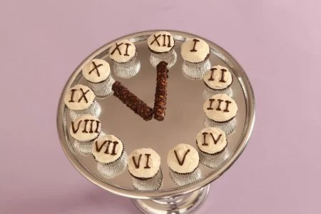 Fun New Year s Eve Ideas   Love From The Oven New Year s Eve Cupcake Clock