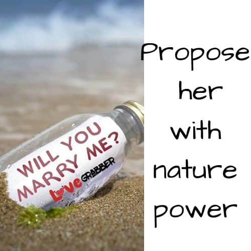 Propose your girl on sand, snow or window