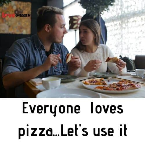 Propose your girl with pizza