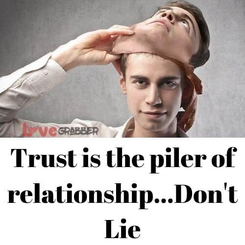 dont lie to your partner or breakup done