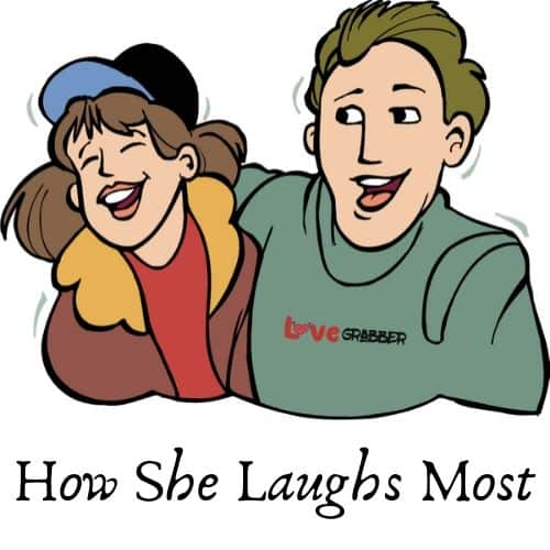 how she laughs most