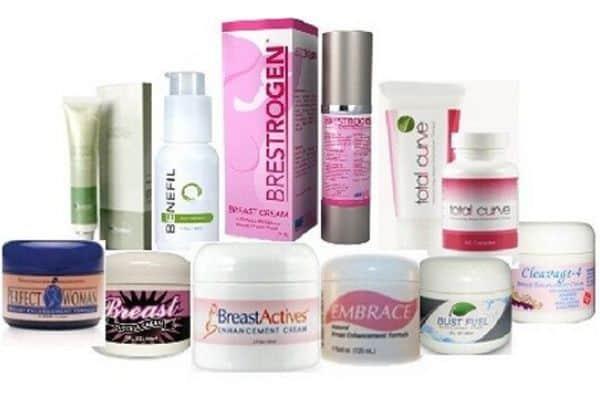 Breast enlargement creams