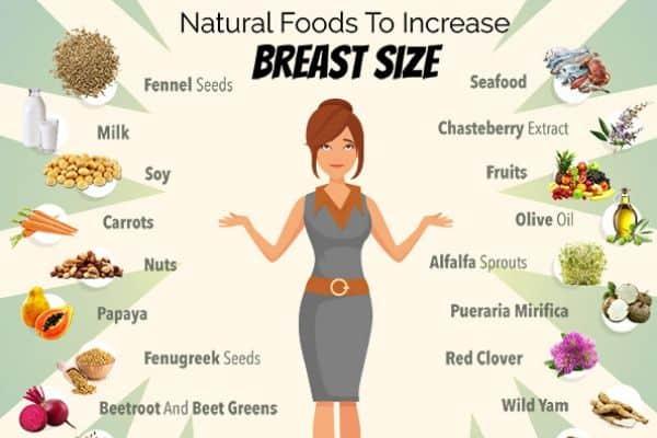 natural foods for bigger boobs