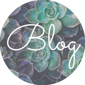 """A background of succulents with the text """"blog"""" for Love Heal Grow. We offer online sex therapy in Sacramento, CA, online LGBT therapy, and other services."""