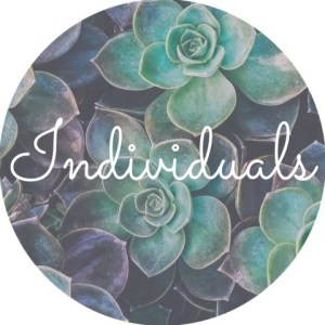 """A background of succulents with the text """"individuals."""" for Love Heal Grow Counseling. Contact an online therapist to learn more about individual therapy for relationship issues in Sacramento, CA."""