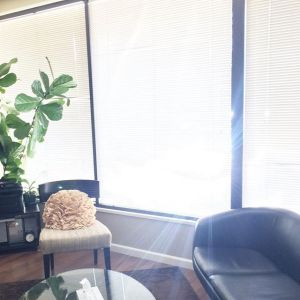 The sun shines through the window of the Love Heal Grow office. Contact a Sacramento therapist for support with anxiety treatment in Sacramento, CA.