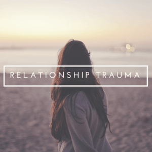 """A woman overlooking a beach with the text """"relationship trauma"""". Contact a Sacramento therapist for sexual abuse therapy in Sacramento, CA. A therapist for sexual trauma can support you with online therapy today!"""
