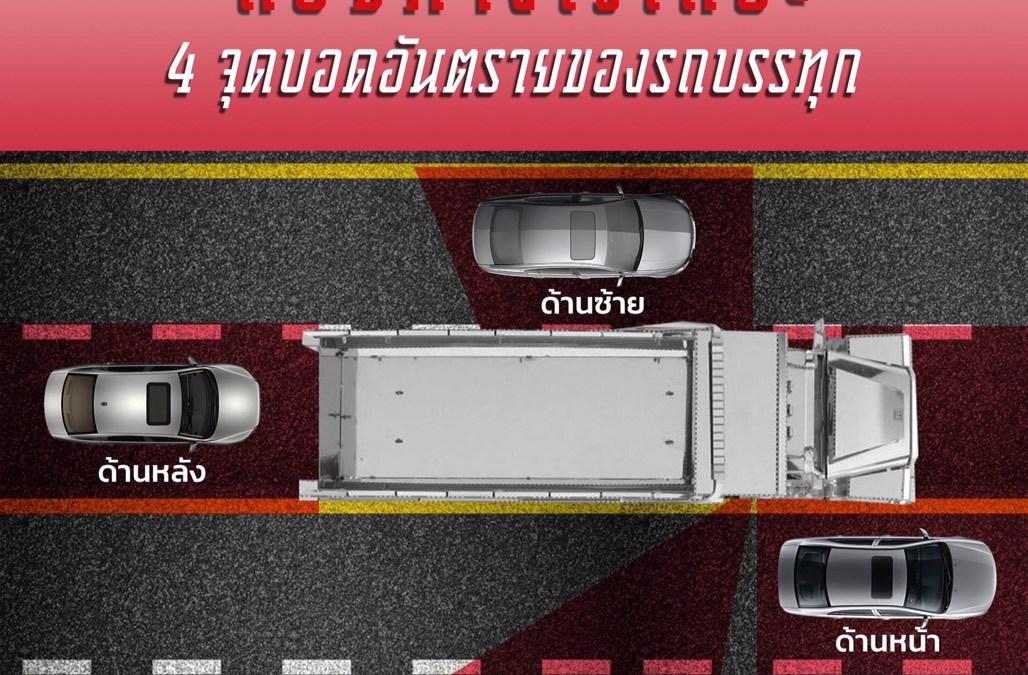 4 จุดบอดอันตรายของรถบรรทุก