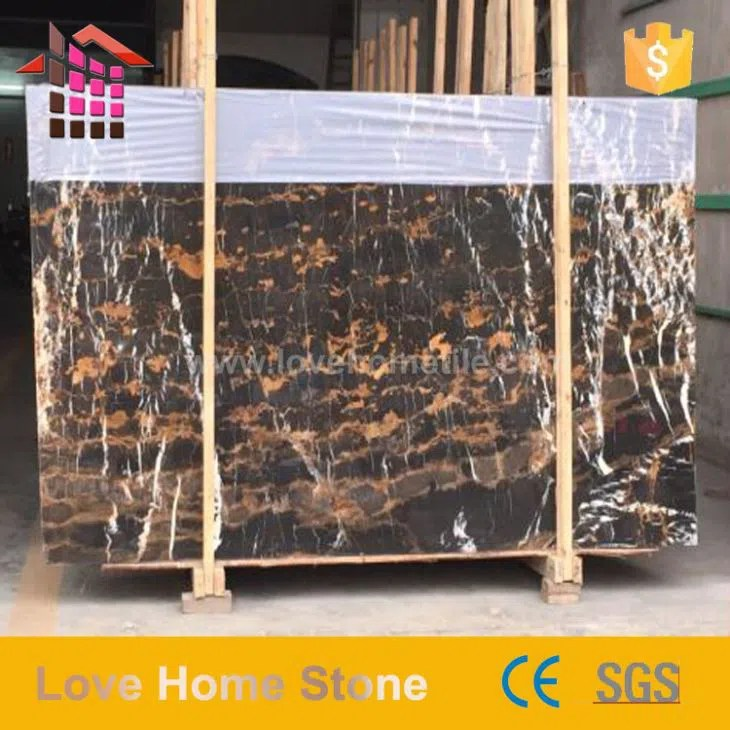 non slip black and gold tile marble for inlay flooring design suppliers china customized quotation love home stone