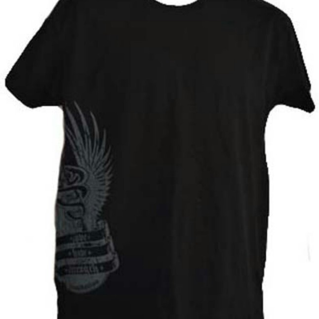 Kids Black Side Logo T-Shirt • Love Hope Strength Foundation