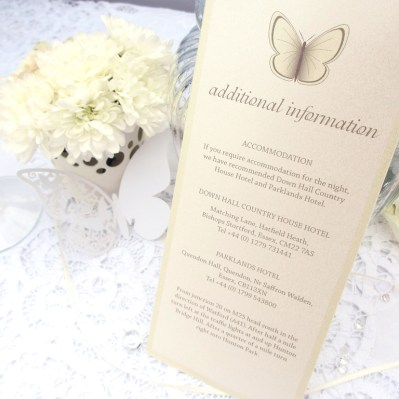 Wedding Additional Information beautiful butterfly by Love Invited