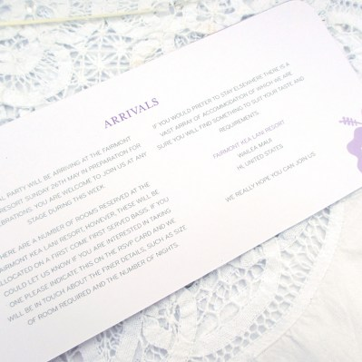 Wedding Additional Information destination by Love Invited