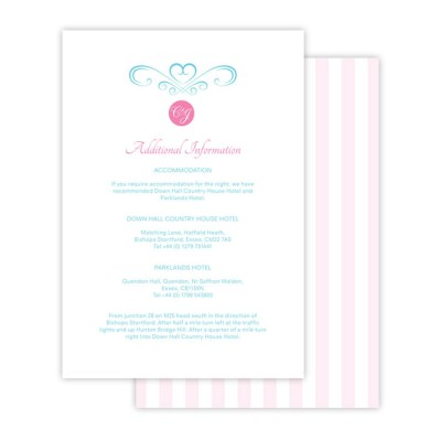 Wedding Additional Information sweetheart by Love Invited