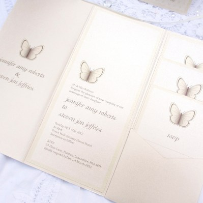 Wedding Invitation beautiful butterfly by Love Invited