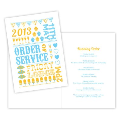 Wedding Order of Service summertime by Love Invited