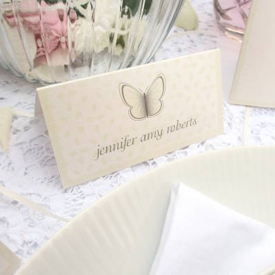 Wedding Placecard beautiful butterfly by Love Invited