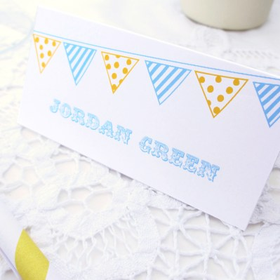 Wedding Placecard Summertime by Love Invited