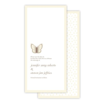 Wedding Save the Date Beautiful Butterfly by Love Invited