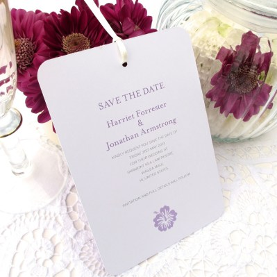 Wedding Save the Date destination by Love Invited
