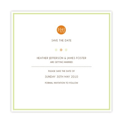 Wedding Save the Date spring blossom by Love Invited