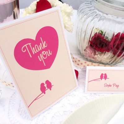 Wedding Thank You lovebirds by Love Invited