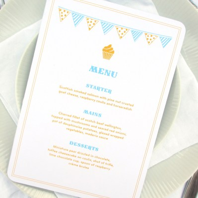 Wedding Menu Summertime by Love Invited