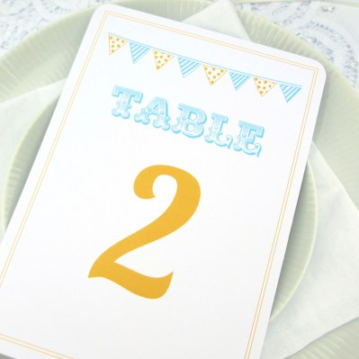 Wedding Table Number Summertime by Love Invited