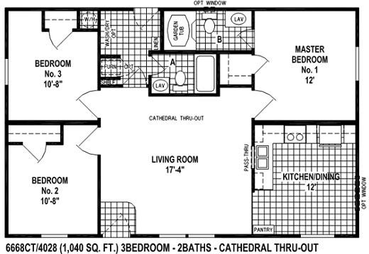 1 Bedroom Bath Mobile Home Floor Plans Giles Homes Double Wide