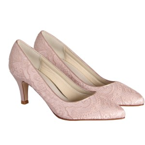 Blush Dyed Lace Shoes