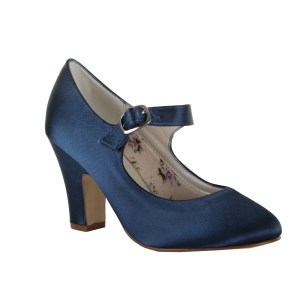 Navy dyed Madeline Mary Jane shoes