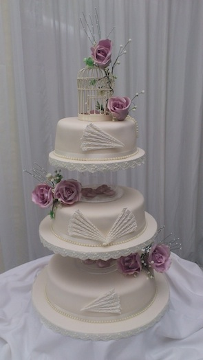 Simply Sweet wedding cake 27