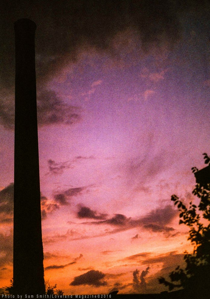 The smokestack on expired 35mm film