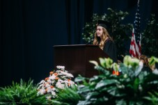 Hannah Ackley delivers the salutatory address