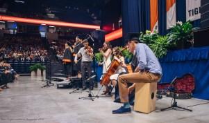 Daniel Eilert plays Cajo along with a string quartet. Laura Hayes played cello, Jacob Kiley violin, Jace Niven guitar and Megan Pedicini violin.