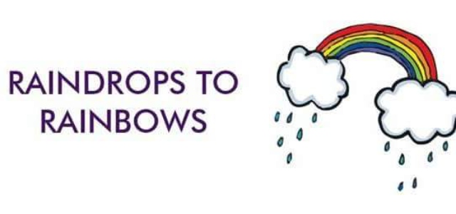 Raindrops to rainbows postnatal depression peer support logo