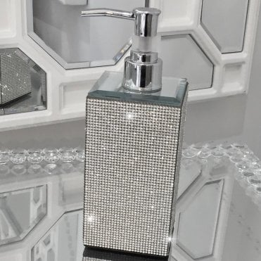 sparkly bathroom accessories from love